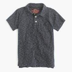A striped, polo shirt has all the holiday-picture potential of a button-down, with the comfort of his favorite T-shirt. <ul><li>Cotton.</li><li>Chest pocket.</li><li>Machine wash.</li><li>Import.</li></ul>