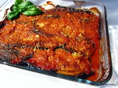 Nejedlé recepty: Zapečený lilek - Melanzane alla parmigiana Meatloaf, Mozzarella, Eggplant, Lasagna, Pork, Cooking, Ethnic Recipes, Kale Stir Fry, Kitchen