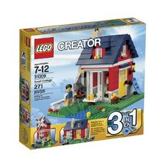 Build a countryside getaway with the Small Cottage! This cozy creation is the perfect LEGO® brick-built vacation home with everything a minifigure needs to unwind! Put the sausage on the grill cruis...