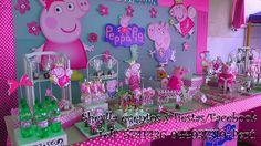Decoración de Peppa pIG, torta bocaditos personalizados, de Sheylla eventos y fiesta/Facebook  Tel. 5741436-944937319 (watsap) Lima-Perú