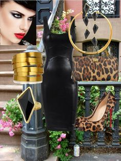 """""""Leather and Leopard"""" by glamatarian on Polyvore"""