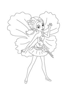 Chrysella Coloring Page From Barbie Thumbelina Category Select 30459 Printable Crafts Of Cartoons Nature Animals Bible And Many More
