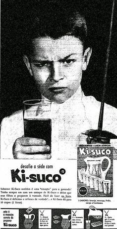Propaganda do Ki-Suco em 1959 com indicação do modo de preparo.