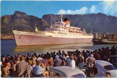 Windsor Castle, flagship liner of the Union Castle Line. My mother always called them the 'Mail Boats'! I think this was taken in on the final voyage from CT to Southampton. Merchant Navy, Merchant Marine, Cruise Boat, Cruise Ships, Rocky Mountain National, National Forest, Colorado Hiking, Pin Up, North Cascades