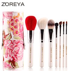 7pcs Professional Makeup Brushes Sets Peony Powder Blush Foundation Duo Fibre Make Up Brush For Beauty Women Tools Free Shipping