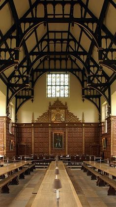 Founded in 1546 by King Henry VIII Trinity Dining Hall is part of Trinity College, Cambridge, UK