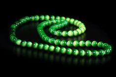Green Ambre Bead Necklace Handcrafted by Shen Bettridge Email shenbettridge@gmail.com