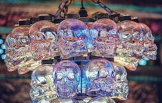 Crystal Head chandelier at the Foundation Room in the House of Blues Sunset Strip.