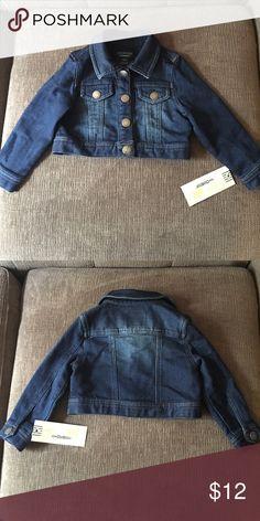 "Cotton ""Denim"" Jacket Toddler girl's cotton denim jacket from osh kosh Osh Kosh Jackets & Coats"