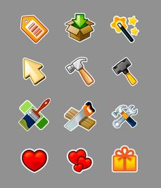 The Ville Social Game - UI  Icons by Ed Temple, via Behance