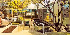 !...Eu acho que vi um gatinho ...!: Future Interiors from the Past 4: Residential City Modules by Syd Mead