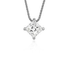 Signature floating diamond solitaire pendant in platinum 175 ct blue nile signature princess cut floating diamond solitaire pendant in platinum 100 ct tw aloadofball Choice Image