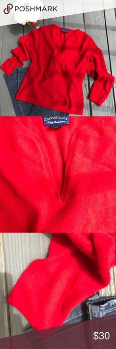 Charter club 100% cashmere sweater Excellent condition size S. Can be fit medium too.  Sweater will be delivered gently steamed and beautifully wrapped in tissue 🛍Bundle & save! 15% off 3 or more items👛💐 Charter Club Sweaters V-Necks