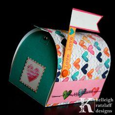 Mini Mailbox Valentine's Papercraft using this template: http://shop.thedigitalpress.co/Mini-Mailbox.html