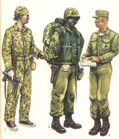 1.- Force Recon, Camp Lejeune,1955.  2.- Sergeant, Lebanon,1958. 3.- Officer ,United States ,1958.