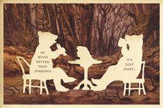 So Much Better Than Porridge, silhouette art by Wilhelm Staehle, silhouette artist #art #artprint #print