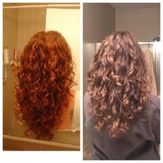 Pic on the left is what I showed my new hair stylist, pic on the right is the result. I've shown that pic to so many stylists in my town and it's never close. So happy to have found someone who knows how to work curls! : curlyhair