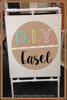 Who wants to spend so much money on teaching supplies such as an easel, when you can DIY inexpensively! This craft is easy to complete (with step by step directions) and perfect for teachers on a budget!