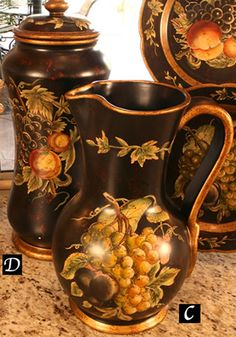 Tuscan Vineyard Canister $95.00
