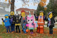 The Lego Movie Lego Costumes with DIY instructions.  Best costumes EVER!