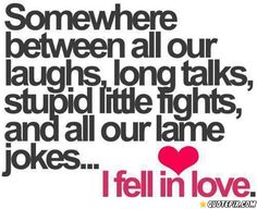 Somewhere Between All Our Laughs