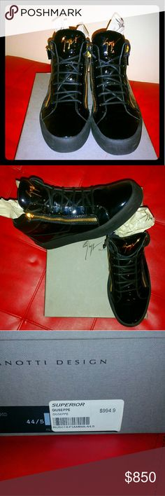 Giuseppe Zanotti Designer Shoes Designer Shoes With Gold Zippers 191 Unlimited Shoes Sneakers