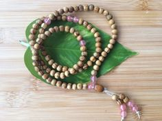 Meditation Mala 108 Beads Necklace Buddhist by JossZenMotions
