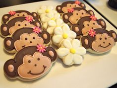 Cute Monkey cookies from Auntie Beas Bakery