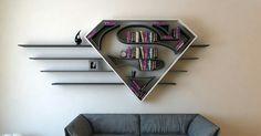 Superman Logo book shelf