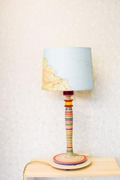 Turned Wooden Lamp Base: Wooden and ceramic lamp bases for shades.,Lighting