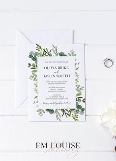 Diy Wedding Stationery, Wedding Stationery Inspiration, Printable Wedding Invitations, Stationery Design, Wedding Inspiration, Wedding Ideas, Budget Wedding Centerpieces, Budget Wedding Flowers, Flower Bouquet Wedding