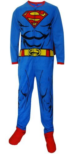 WebUndies.com Superman Fleece Onesie Footie Pajama with Cape
