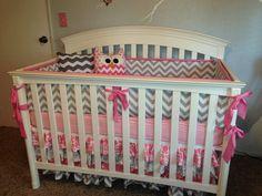 Project Nursery - Pink and Gray Girl Nursery Crib View
