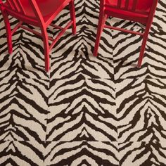 Mod Zebra II - Brown. Flor carpet tiles. Also in cowhide and giraffe.