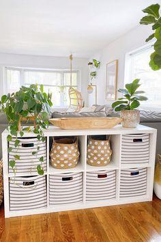 8-Cube Storage Organizer via Instagram user modernhousevibes. #livingroom #familyroom #den #storage #cubestorage #organization