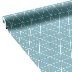intiss pessaa coloris bleu scandinave by sophie ferjani - Papier Peint Bleu Geometrique