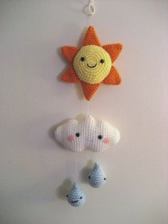 Amigurumi Crochet Happy Weather Mobile Pattern by AmyGaines