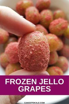 Frozen Jello Grapes Healthy Snacks For Kids, Healthy Sweets, Yummy Snacks, Healthy Eating, Grape Recipes, Jello Recipes, Drink Recipes, Yummy Recipes, Candied Grapes Recipe