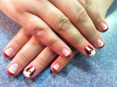 Santa suit shellac Mani!  Nails By Jeannie  The Nail Station Glen Burnie MD