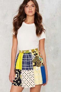 Vintage Young at Heart Mini Skirt