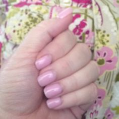 SNS shellac type manicure...soft pink color