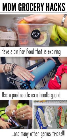 The best grocery store hacks. This is a must read for moms. These great tip and tricks will make your time at the grocery store with kids easier. Also includes helpful house hold hacks for storing food. Tips And Tricks, Strand Hacks, Store Hacks, Family Organizer, Simple Life Hacks, Mom Hacks, Kitchen Hacks, Kitchen Things, Parenting Advice
