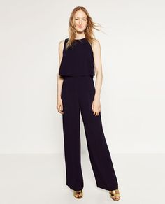 Image 1 of JUMPSUIT WITH OPEN BACK from Zara