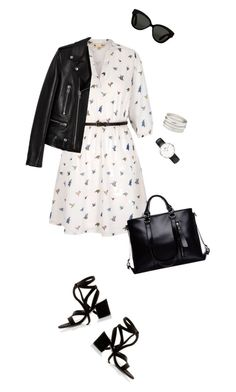 """Untitled #107"" by birdinthethyme on Polyvore featuring Yumi, Yves Saint Laurent, Daniel Wellington, Charlotte Russe, Linda Farrow, Gianvito Rossi, Spring, dress and springfashion"
