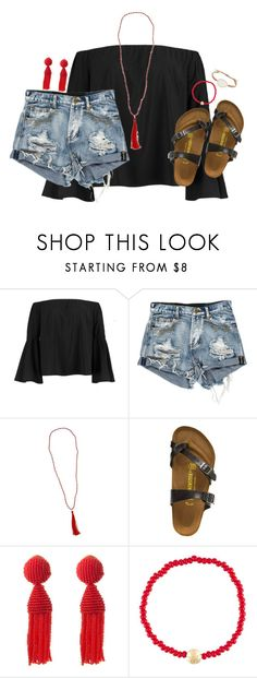 """""""anyone going to g day saturday??"""" by kaley-ii ❤ liked on Polyvore featuring Boohoo, New Directions, Birkenstock, Oscar de la Renta, Luis Morais and Tai"""