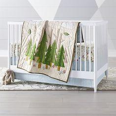Baby Boy Nursery Room Ideas On A Budget Gender Neutral 44 Ideas Woodland Crib Bedding, Crib Bedding Boy, Cot Quilt, Natural Bedding, Woodland Baby, Woodland Forest, Woodland Nursery, Forest Nursery, Floral Bedding