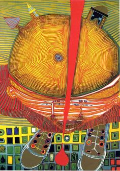 Austrian Friedensreich Hundertwasser (1928-2000) , he became one of the best-known contemporary Austrian artists, although controversial,by the end of the 20th century. Description from pinterest.com. I searched for this on bing.com/images