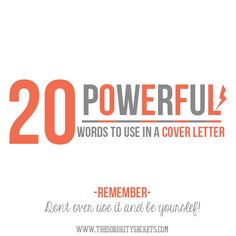 find this pin and more on academically organized the sorority secrets 20 powerful words to use in a cover letter - Words To Use In Cover Letter