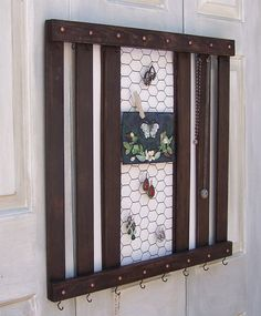 Rustic Jewelry Holder, Storage, Display, Organizer -  Reclaimed Wood Pallet