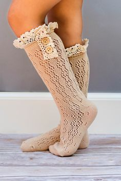 BUTTON BOOT Knee SOCKS - CHILDREN Various Colors